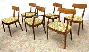 Set 6 KIPP STEWART for DREXEL Dining Chairs. Walnut Din