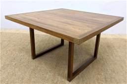 HELTBORG MOBLER Danish Modern Teak Coffee Table. Squar