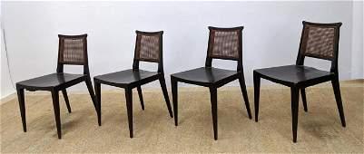 Set 4 Mahogany Dining Chairs. EDWARD WORMLEY for Dunbar