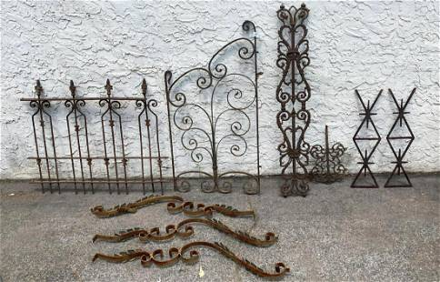 9pc Collection of Outdoor Iron and Metal Ornaments. Sm