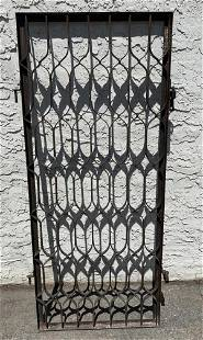 Single Iron Gate Panel. Decorative Panel with hanging p