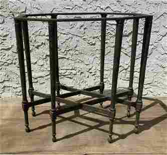 Decorative Iron 8 Leg Table Base. Tapered legs with kno