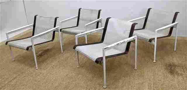 Set 4 RICHARD SCHULTZ Arm Lounge Chairs. Sling mesh Sea