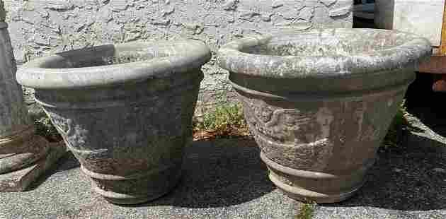 Pr Vintage Concrete Planters Angel designs. Outdoor Gar