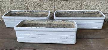 Set 3 WILLY GUHL Rectangular Planters Window Boxes. Gar