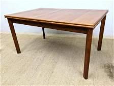 FURBO Danish Modern Teak Dining Table. Refractory style