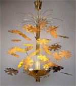 Paavo Tynell Style Floral Hanging Chandelier. Snowflake