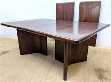 "OLDUM Rosewood Danish Modern Dining Table. ""Y"" Form Dou"