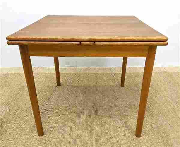 "Danish Modern Teak Refractory Dining Table. Two 25.5"" P"