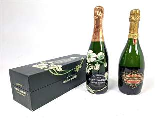 2 Bottles Vintage French Champagne. DOMAINE Ste MICHELL