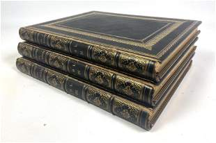 THOR WALDSEN and His Works. Vol 2,3,4. Three leather bo