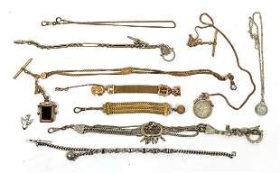 10pcs Vintage Pocket watch Chains.