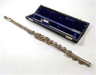 GEMEINHARDT Sterling Silver Flute in Case. Elkhart Indi