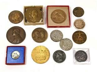 14pcs Vintage Medals. Mostly Bronze. Battle of Gettysbu