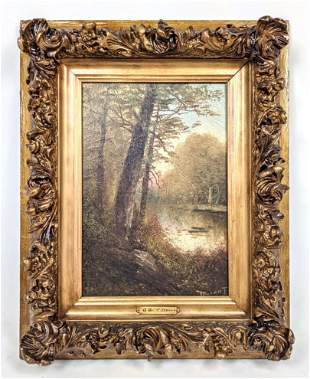 JEAN ALEXANDER DURANT Oil Painting on Canvas. A Quiet S