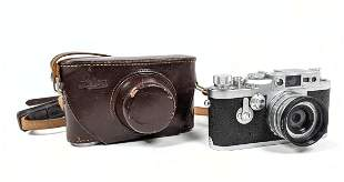 2pc Vintage LEICA 35mm Camera and Leather Case. LEICA N