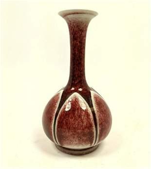 1949 Rookwood Lotus Vase. Red Chinese glaze.