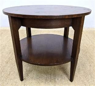 BAKER Furniture Vintage Round Side End Table. Lower she