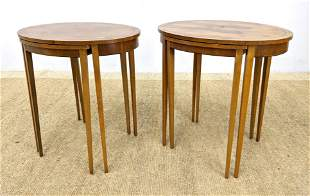 2 sets BAKER Furniture Nesting Tables. Each set with tw