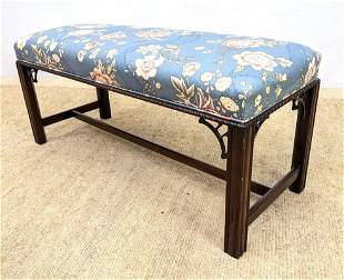 HICKORY CHAIR Chippendale style bench.