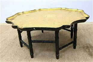 KITTINGER Tray Top style Coffee Table. Faux bamboo wood