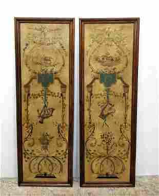 Pair THEODORE ALEXANDER Decorative Wall Panels.
