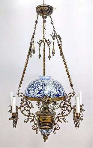 Blue and White Porcelain Chandelier