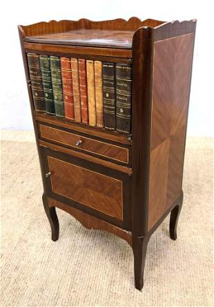 French Style Side Table Stand with Faux Book Front.