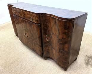 Art Deco Style Sideboard Credenza Cabinet. Burl.