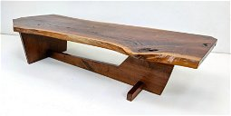 In the style of GEORGE NAKASHIMA Walnut Coffee table