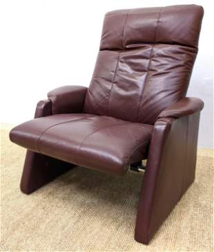 THAYER COGGIN Nappa Leather Reclining Lounge Chair. Com