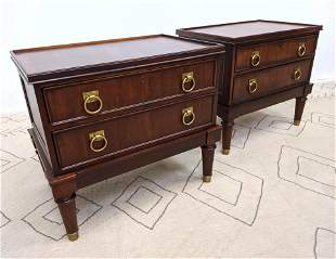 Pair RALPH LAUREN POLO Side Tables. Night stands with B