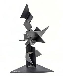 """JOE SELTZER """"Points"""" Welded Metal Sculpture. Welded geo"""
