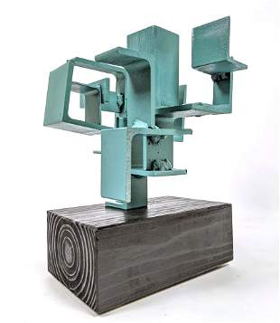 """JOE SELTZER """"Right Angles"""" Welded Metal Sculpture. Weld"""