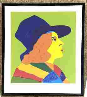 JOHN GRILLO '79 Graphic Portrait Silkscreen Print. Fema