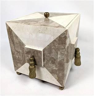 LE MONTAGE Tessellated Stone Dresser Box.
