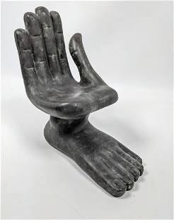 Contemporary After Pedro Friedeberg Bronze Sculpture. M