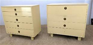 Pair of Painted George Nelson Chest Dressers. Herman M