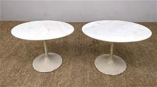 Pr EERO SAARINEN Style Tables. Tulip Side Tables. Ename