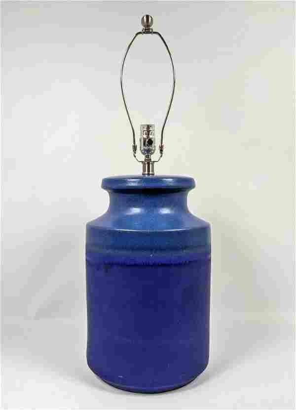 Large Glazed Art Pottery table lamp.