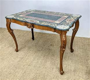 Fancy Inlaid Marble Center Table. Traditional Style. In