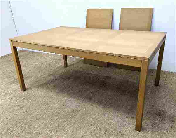 VEJLE STOLE Danish Modern Dining Table. Blond Wood Tabl
