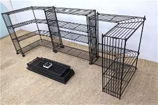 Modular Metal Shelf Storage Unit. Open rod style shelve