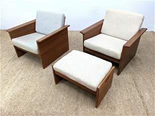 3pc TARM STOLE - OG Danish Modern Lounge Chairs Ottoman