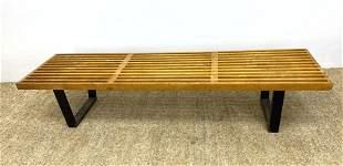 GEORGE NELSON for HERMAN MILLER Original Slat Bench.