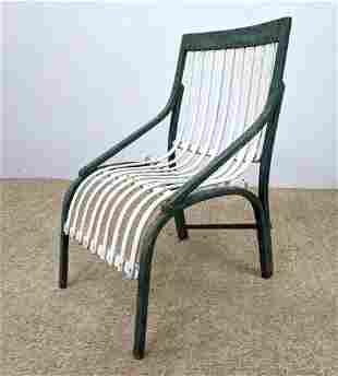 Mid Century Modern Bent Wood Chair. Original Paint.