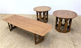 3pcs American Modern Table Set. Coffee Table and 2 Sid