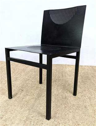 Christian DUC Metal Side Chair ORWELL. Memphis style.