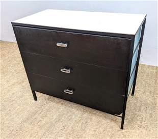 GEORGE NELSON BLUE Steel Frame Bachelor's Chest Dresser