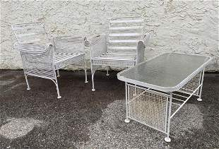 3pcs Mesh Side Outdoor Set. 2 Chairs and a Table.